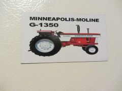 MINNEAPOLIS MOLINE G-1350 Fridge/toolbox magnet