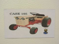 CASE 195 Fridge/toolbox magnet