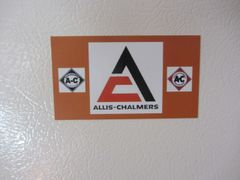 ALLIS CHALMERS LOGOS Fridge/toolbox magnet