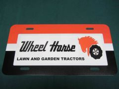 WHEEL HORSE L&G LOGO LICENSE PLATE