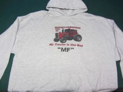 "MASSEY FERGUSON 1155 ""MY TRACTOR IS ONE BAD MF"" Hooded sweatshirt"