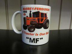 """MASSEY FERGUSON 1155 """"MY TRACTOR IS ONE BAD MF"""" (IMAGE #2)COFFEE MUG"""