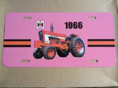 IH 1066 OPEN STATION LICENSE PLATE (PINK)