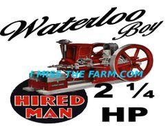 WATERLOO BOY HIRED MAN ENGINE TEE SHIRT