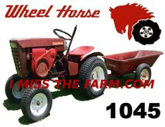 WHEEL HORSE 1045 WITH WAGON TEE SHIRT
