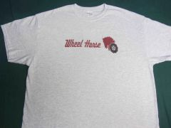 WHEEL HORSE LOGO (red text) TEE SHIRT