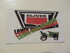 OLIVER LAWN AND GARDEN LOGO Fridge/toolbox magnet
