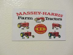 MASSEY HARRIS FARM TRACTORS Fridge/toolbox magnet