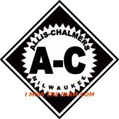 ALLIS CHALMERS DIAMOND LOGO (BLACK) TEE SHIRT