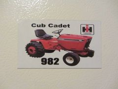 CUB CADET 982 Fridge/toolbox magnet
