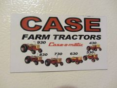 CASE 30 SERIES TRACTOR Fridge/toolbox magnet