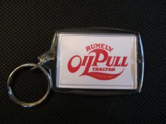 RUMELY OIL PULL TRACTORS LOGO KEYCHAIN