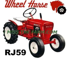 WHEEL HORSE RJ59 COFFEE MUG