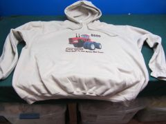 ALLIS CHALMERS 8550 (BEST BUILT TO EAT ACRES NOT FUEL) HOODED SWEATSHIRT