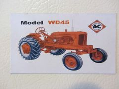 ALLIS CHALMERS WD45 WF Fridge/toolbox magnet