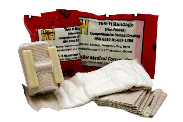 """H&H Thin H 4"""" x 7.5"""" Flat Fold Bandage"""