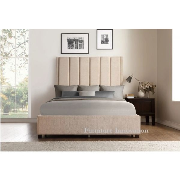 Iris fabric bed frame l homelegance l 5876 | San Francisco Furniture ...