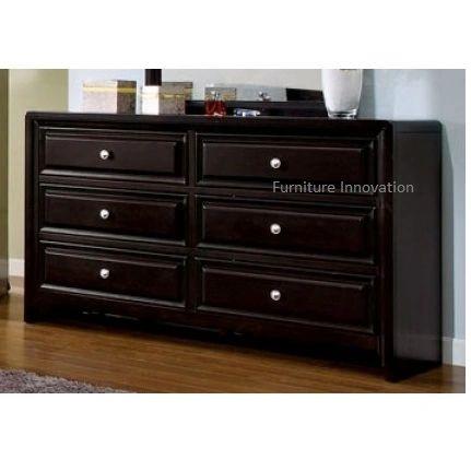 Yorkville Dresser Espresso Finish Furniture Of America Cm4058 San