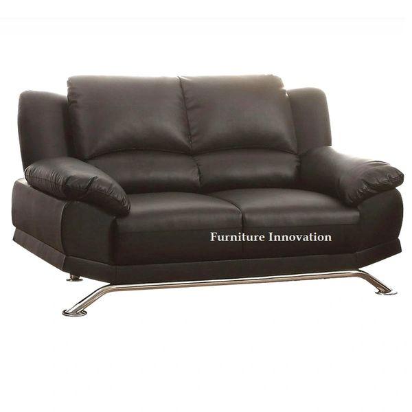 Maigan black bonded leather sofa loveseat chair acme 51206 | San ...