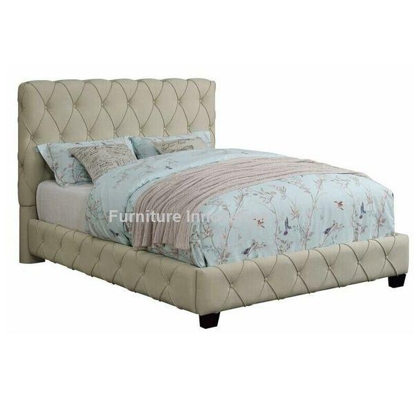 Elsinore, Bed frame l bed l tufted bed l tuft l 300684, COASTER ...