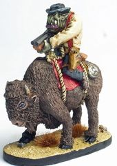 Mounted Cowboy Orc 5 - Hoodoo Green