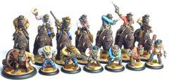 Set of 7 Mounted and 7 Foot Cowboy Orcs