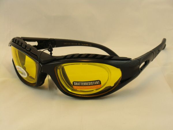 9d842ba240 Padded motorcycle glasses RX apdapter
