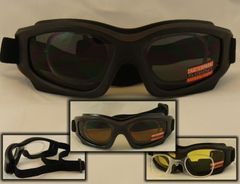 929cedda5e MOTORCYCLE GOGGLES AND PADDED RIDING GLASSES WITH RX INSERT