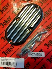 BLACK FINNED INSPECTION COVER HARLEY SOFTAIL
