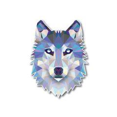 Geometric Wolf Low Poly Dog Decal Sticker Reflective Car Truck Window Laptop