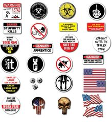 28 Pack 3M Funny Hard Hat Helmet Sticker Combo Value Pack Extreme Edition Toolbox