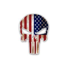 US Flag Army Punisher Vinyl Decal Car Truck Laptop sticker Military Veteran