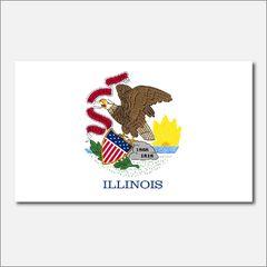 ILLINOIS STATE FLAG VINYL DECAL STICKER