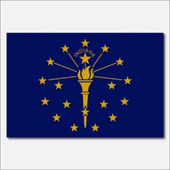 INDIANA STATE FLAG VINYL DECAL STICKER