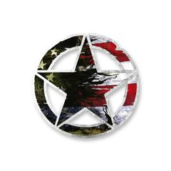 US FLag Army Star Vinyl Decal Car Truck Laptop sticker Military Veteran
