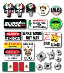 23 Pack 3M Funny Mexican Hard Hat Helmet Sticker Combo Value Pack Toolbox Welder