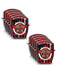 10pk Thin Red Line American Flag Firefighter Red Lives Matter Sticker Decal USA