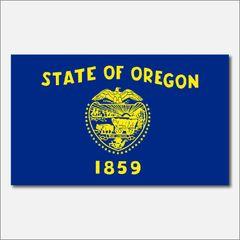 OREGON STATE FLAG VINYL DECAL STICKER