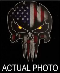 USA Punisher Skull with Red Reflective Eyes decal Car Truck Sniper Marines Army Navy Military Air Force