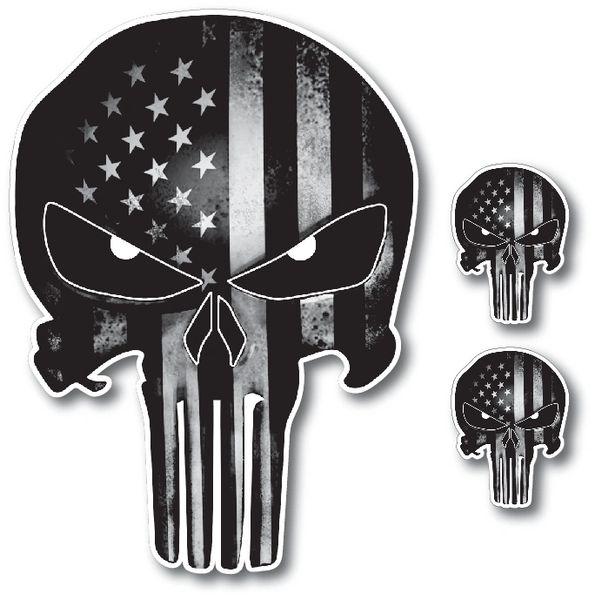Punisher Skull American Flag Vinyl Decal Stickers Car