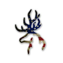 USA Flag Browning Deer