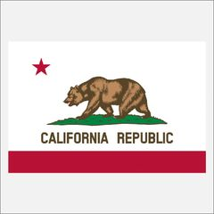 CALIFORNIA STATE FLAG VINYL DECAL STICKER