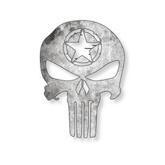 Punisher Skull US Army Military Veteran