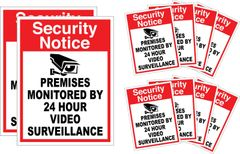 10 Pack of Security Decals