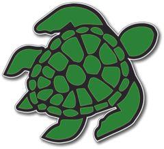 Sea Turtle Decal Sticker Vinyl 3M Car Truck Laptop Green window