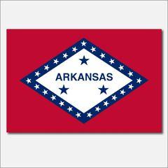 ARKANSAS STATE FLAG VINYL DECAL STICKER