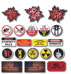 20 Pack 3M Funny Hard Hat Helmet Sticker Combo Value Pack Extreme Edition Toolbox