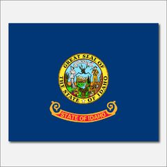 IDAHO STATE FLAG VINYL DECAL STICKER