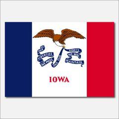 IOWA STATE FLAG VINYL DECAL STICKER