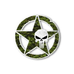 US Army Star Punisher Skull Vinyl Decal Car Truck Laptop sticker Veteran Troops